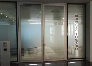 Etched glass effect vinyl