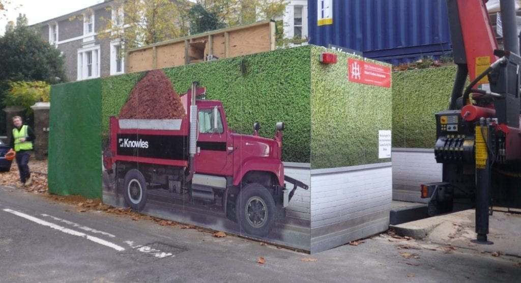 fun construction site hoardings