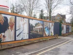 Taking Advantage of Building Site Hoardings for Advertising.