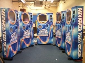 Ticket machine vinyl wraps