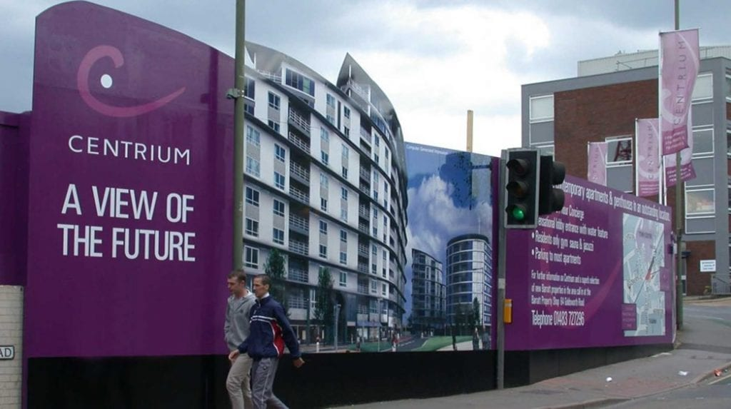 Cost Printed Building Site Hoardings