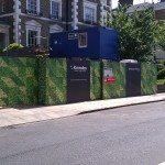 Digitally Printed Hoarding camouflage for Building Site in London
