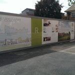 Kings College School Printed Aluminium Hoarding Depicting Its Colourful History.