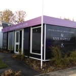Internal and External, Vinyl Wrap on Portable Marketing Suite for New Development Site