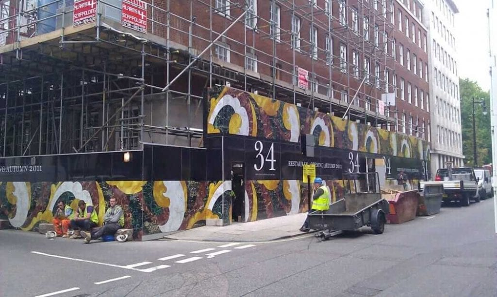 Building site hoardings
