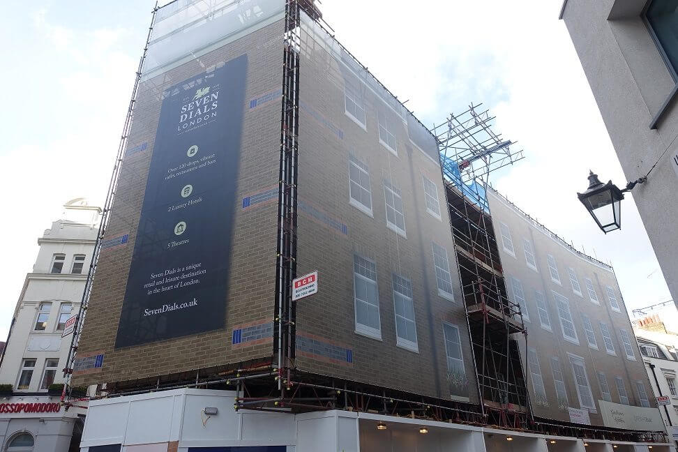 Scaffolding wrap advertising
