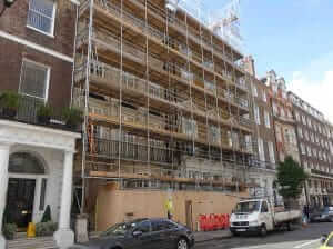 before Concealing Scaffolding scrim