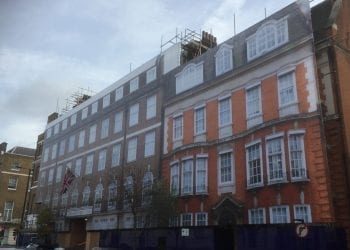 Printed building wraps in Marylebone, London