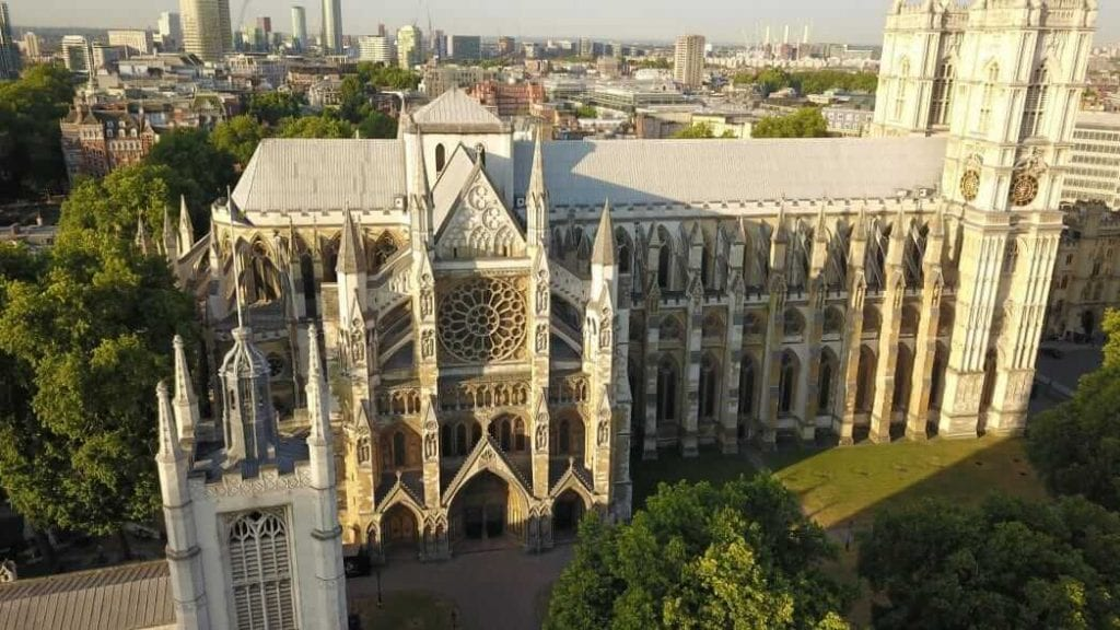Westminster Abbey Drone video