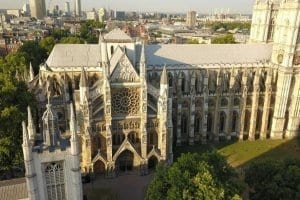 Westminster Abbey Drone video in 4K ultra HD High Definition