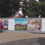 Digitally printed hoarding for Kings College in Wimbledon