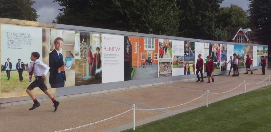 Digitally printed hoarding