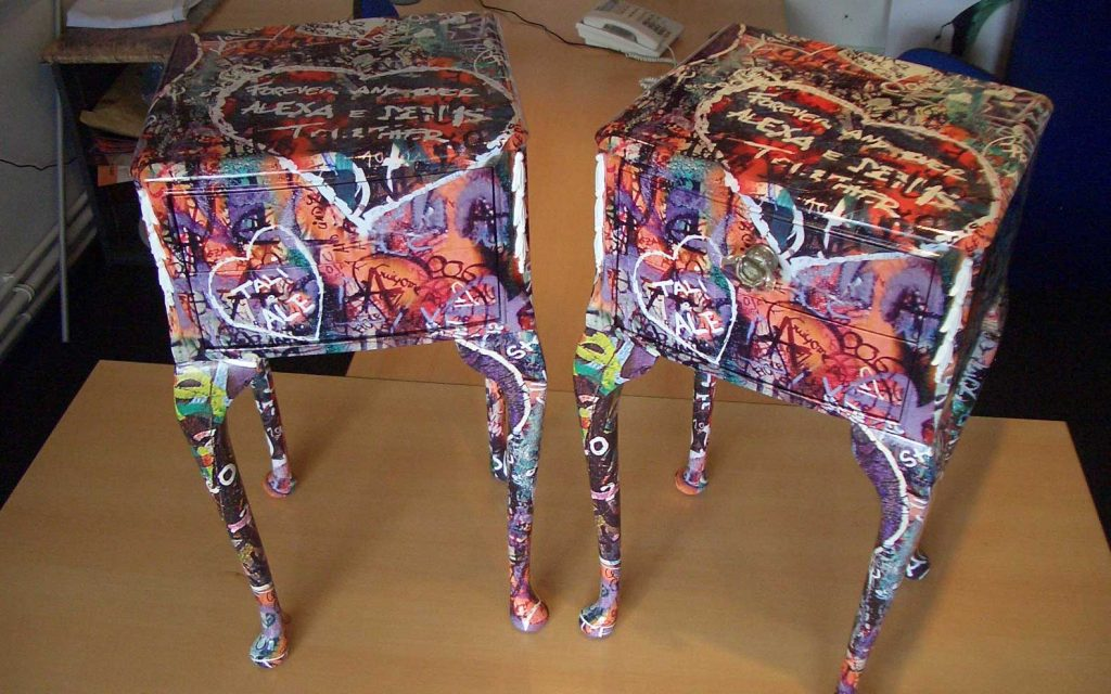 Furniture vinyl wrapping