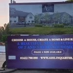 Illuminated hoarding using LED's for developer in Kent