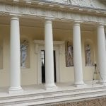 Facade Wrap in Roman Temple To Hide Unfinished Work