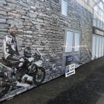 Self install building wraps for motorcycle event on Isle of Man