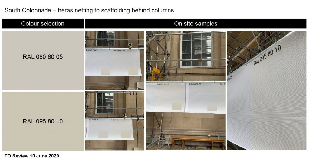 Colour matching Printed scaffold Sheeting