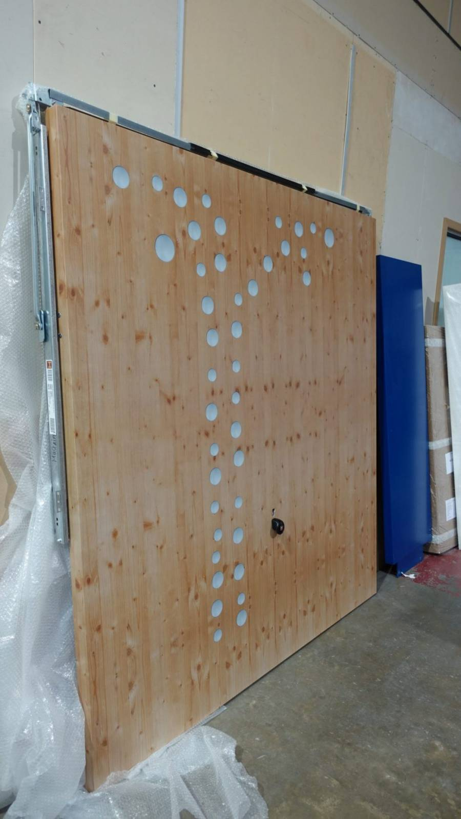 Wrapped printed door