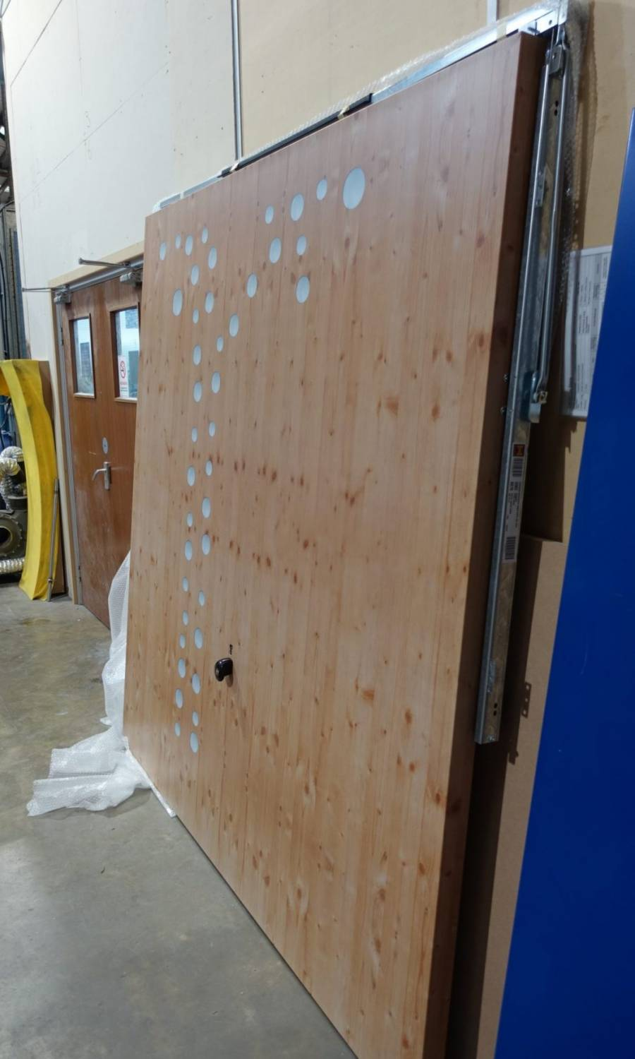 Printed wrapped door